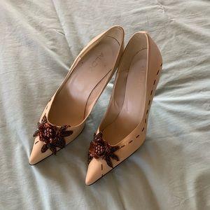 ALDO Tan Brown Leather Pointy Toe